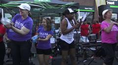 Samba Squad, 11th Annual Salsa on St. Clair, Toronto 2015 Stock Footage