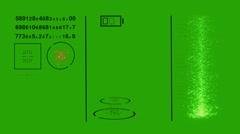 Virtual Futuristic HUD interface - Green Screen. Hi-Tech Concept Stock Footage