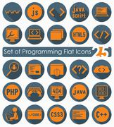 Stock Illustration of Set of programming icons