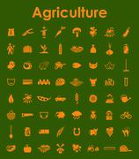 Set of agriculture simple icons Stock Illustration