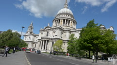 St Pauls Cathedral London England, UK Stock Footage