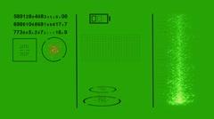 Futuristic SciFi HUD. Virtual interface on Green Screen Stock Footage