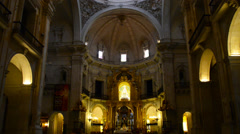 Interiors of the church Stock Footage
