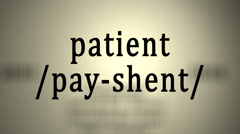 Definition: Patient Stock Footage