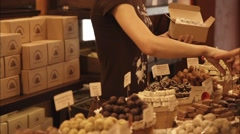 Girl Sells Sweets Stock Footage