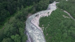 mountain river in Alaska - stock footage