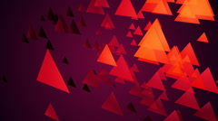 Purple triangle space Stock Footage