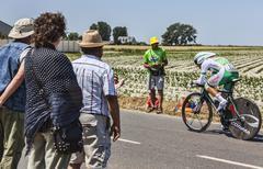 The Cyclist Julien El Fares - Tour de France 2013 - stock photo