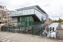 Business school of amsterdam university near roeterseiland in the centre of t Stock Photos