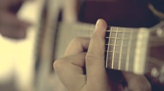 Man Playing Guitar At A Concert - stock footage