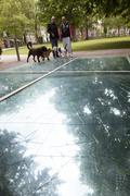 auschwitz monument in amsterdam wertheim park - stock photo