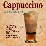 Cappuccino recipe - stock illustration