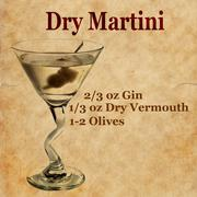 Dry Martini Recipe - stock illustration