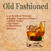 Old Fashioned recipe Stock Illustration