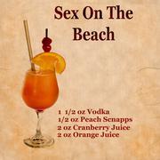 Sex on the beach recipe Stock Illustration