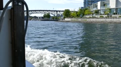 Vancouver Water Sightseeing - 02 Stock Footage