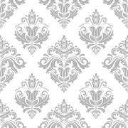 Damask Seamless Vector Pattern Stock Illustration