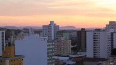Sunset view. Brazilian City. Piracicaba city, Sao Paulo state, Brazil  Stock Footage