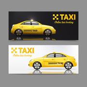 Taxi Banner Set Stock Illustration