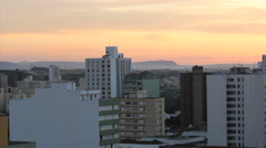 Sunset view. Brazilian City. Piracicaba city, Sao Paulo state, Brazil  Stock Footage