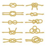 Rope Knot Decorative Icon Set Stock Illustration