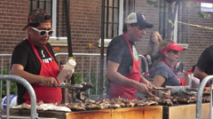 Food Vendors at the 11th Annual Salsa on St. Clair, Toronto 2015 Stock Footage