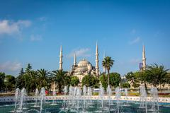 Fountain in the Sultan ahmet square. Blue mosque, Istanbul, Turkey. Stock Photos