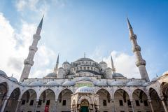 Sultan Ahmet Mosque or Blue Mosque. Istanbul, Turkey Stock Photos