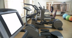 Modern gym with sport equipment Stock Footage