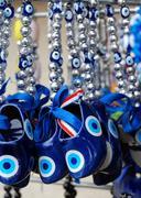 Traditional Turkish amulet Evil Eye or blue eye Stock Photos