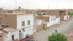 The old residential neighborhood in Khiva Stock Footage