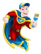 Superhero Decorator Stock Illustration