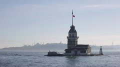 Maiden tower in Istanbul - stock footage