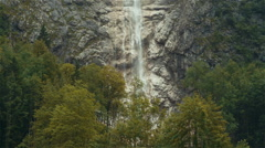 Beautiful mountain waterfall Stock Footage