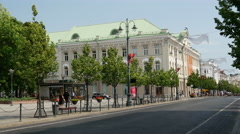 The Gediminas Avenue towards the Cathedral Square in Vilnius Lithuania Stock Footage
