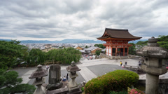 Time Lapse of Kiyomizu Dera and tourists in Kyoto, Japan Stock Footage