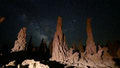 3 axis Motion Control Astro Time Lapse of Milky Way at Mono Lake -Zoom In- - stock footage