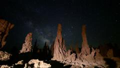 Stock Video Footage of 3 axis Motion Control Astro Time Lapse of Milky Way & Tufas in Mono Lake