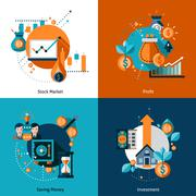 Stock Illustration of Investment Icons Set