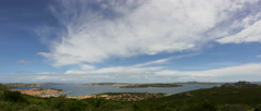 La Maddalena Archipelago Panorama Palau Sardinia Italy - 25FPS PAL Stock Footage