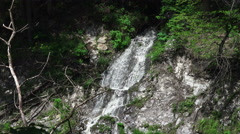 Forest Waterfall In Quechee Gorge Vermont Stock Footage
