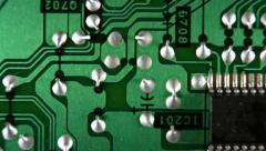 Microcircuit in Motion. Stock Footage