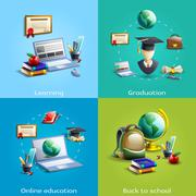 Stock Illustration of Education and learning icons set