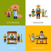 Farmers Design Concept Stock Illustration