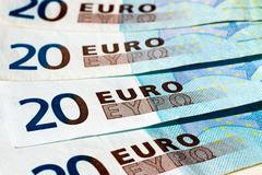 banknotes of twenty euro - stock photo