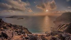 Makapu'u Oahu Ocean, Seascape, Dawn Time Lapse Hawaii, Koolau Range Stock Footage