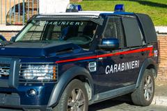 ROME, ITALY, cross-country vehicle armored of Carabinieri - stock photo