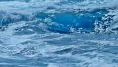 Crashing Rolling Foamy Turquoise Blue Sea Water Waves - 25FPS PAL - stock footage
