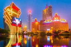 The buildings of casino in Macau, China - stock photo