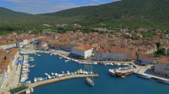 HD Aerial: Descending over Adriatic City - stock footage